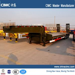 China semi trailer , low bed semi trailer , tri-axle low bed semi trailer on sale