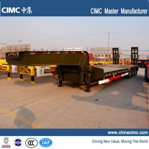 China semi trailer , low bed semi trailer , tri-axle low bed semi trailer on sale