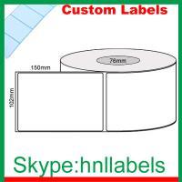 Custom Thermal Label 102mmX150mm/1 Plain D/Thermal Roll Freez Perm No Perfs 1,000 76mm