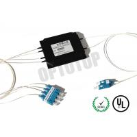 High Reliability Single Mode Fiber Coupler 2x4 , Optical Wire Splitter Mini Sizes