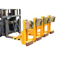 Four Drums Lifting Once Forklift Attachments Drum Handling for Library / Restaurant
