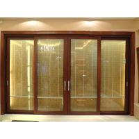 2.0mm profile thickness red sandalwood sound insulation aluminum sliding glass doors