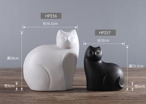 China Poly Resin Cats Models For Hotel / House Decoration Custom Service Available on sale