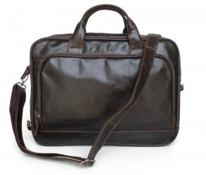 China Men Style Genuine Vintage Leather Decent Briefcase Laptop Bag #7005Q-2 on sale