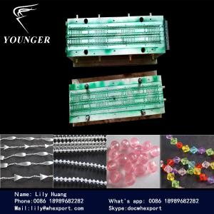 China plastic Rosary string Beaded Beads round ball Chain making  machine machinery for roller blinds curtains on sale