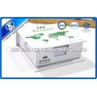 Paper Box Packing Green / White Cover Memo Sticky Notes , Sticky Block for Office