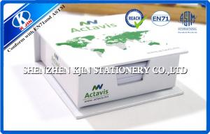 China Paper Box Packing Green / White Cover Memo Sticky Notes , Sticky Block for Office on sale