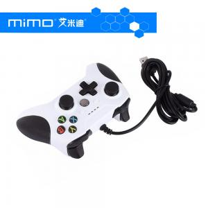 China Dual Vibration 1.8m Wired Controller Gamepad with 4 LED Indicators 3.5mm Audio Jack for XBox One Slim and Windows PC on sale