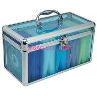 China Transparent Acrylic Aluminum CD DVD Storage Case With Lock , 300*120*150mm on sale
