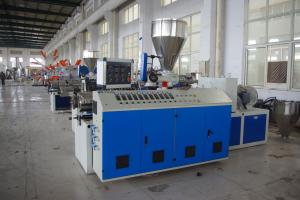 China PVC Pipe / Plastic Profile Twin Screw Extruder Machine High Extruding Output on sale