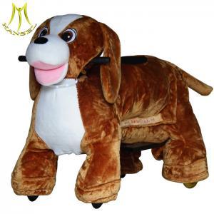 China Hansel motorized plush riding animal from china and plush amusement carnival rides with amusement park animal ride on sale