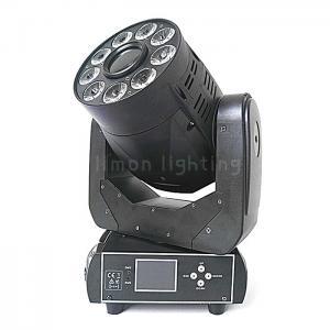 China 90W Spot+ 9x18W RGBWAUV 6in1 DMX LED Wash Moving Head Spot Light on sale