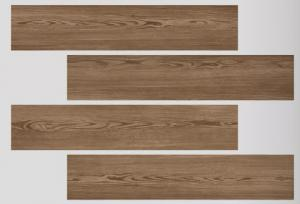 China CE ISO Listed Dark Brown Wood Look Porcelain Tile High - Tech Building Materials on sale