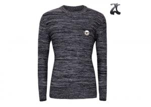 China Crew Neck Men's Knit Pullover Sweater ,  Heavy Cotton Jumper Sweater For Winter on sale