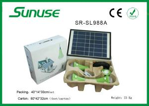 China Long lifespan 12W solar panel Solar Home Lighting System with 3W*3pcs LED bulbs on sale