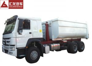 China Palfinger Hook Lift Rubbish Compactor Truck , Detachable Waste Disposal Truck 2 Speed Reverse on sale
