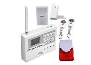 China GSM Intrusion Wireless Burglar Alarm Systems With Wire tap 24 Hours Zone on sale