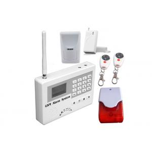 China GSM Intrusion Wireless Burglar Alarm Systems With Wire tap 24 Hours Zone on sale