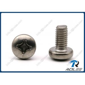 China 307 / 316 / A2 / 18-8 Stainless Steel Philips Pan Head Machine Screws on sale