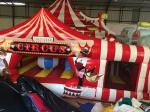 Large Inflatable Fun City Cute Circus Clown Jumping House For Toddler
