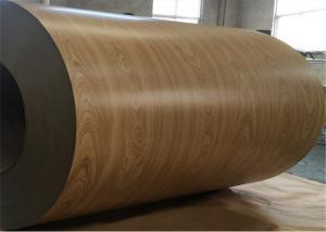 Wood Grain Pre Painted Metal Sheet Electro - Galvanized