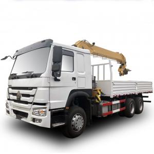 China Howo Sino 6x4 Cargo Crane Truck / 10 Ton  Telescopic Boom Truck Mounted Crane on sale