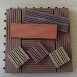 China Waterproof Embossing WPC Deck Tiles For Sunroom / Swimming Pool 300*300mm on sale