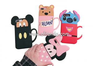 China Cute silicone animal cartoon phone case supply promotional silicone girls phone cover custom on sale