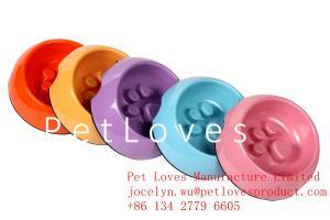 China Slow Down Feed Melamine Dog Bowl Pet Bowl Scratch resistance feeding bowl on sale