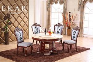 China Carving Design Export RoundSolid Wood Dining Table on sale