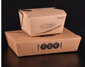 China Disposable kraft paper fast food packaging box on sale