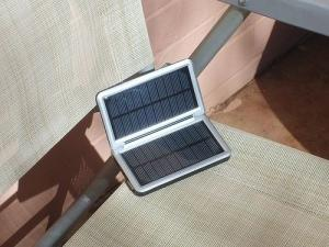 China Solar Powered USB Mobile Phone Charger with 4 LED Lamps on sale