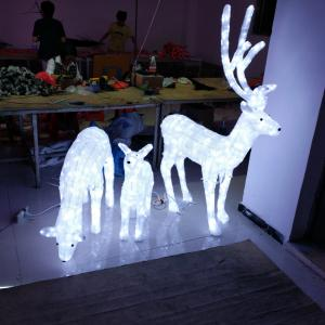 China 3D LED christmas acrylic deer motif light on sale