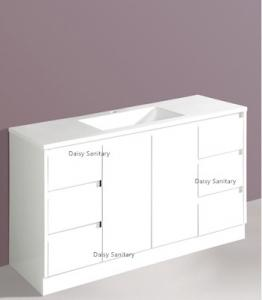 China Four Legs Four Sizes Bathroom Floor Vanities With Brass Or Stainless Steel Handles on sale