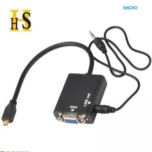 China micro hdmi to vga adapter with audio on sale