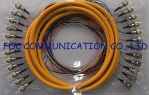 China 0.9mm Distribution Fan Out Fiber Optic Patch Cord 12Core for Telecom and Datacom on sale