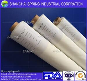 China 3.7m Width Screen Printing Mesh Roll White / Yellow 43T Mesh Count 55um on sale