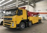 Max. Extension traveling of lifting boom 6000mm VOLVO Road Wrecker 2 pieces of winch