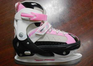 China Girls High Impact Cold-proof Nylon Ice Skating Shoes For Beginner with Stainless Steel Blade on sale