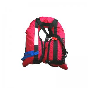 China 24H Floating Co2 Life Vest , Red Color Blow Up Life Vest High Durability on sale
