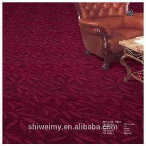 China Chinese wine red cut loop pile nylon home, commercial carpet on sale