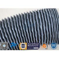 Waterproof  Grey PVC Coated Fiberglass Fabric 0.25mm Air Ducting Cloth