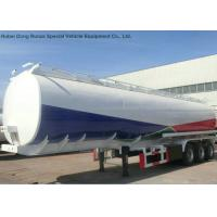 Liquid Flammable Petroleum Road Transport Tanker Trailer 3 Axles For Diesel Gasoline ,Oil , Kerosene 44CBM