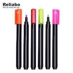 China Plastic Chalk Marker Pen / Magnetic Chalk Marker Set Chisel Tip on sale