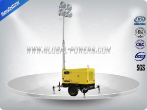 China 5Kva Diesel Generator Set Construction Light Towers 6 Meters Mechanical Mast on sale