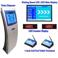 China 17 inch Automatic Banking Queue Management System with 7 Tablet Calling Pad Terminal,Queue Number Ticket Kiosk System on sale