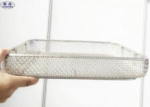 China Sterilization Stainless Steel Mesh Basket Basket Medical Autoclave Tray on sale