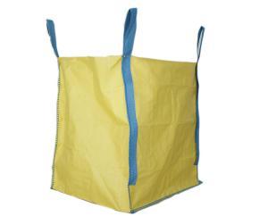 China Flat Bottom Design 1 Ton Bulk Bag Blue Liftings Founded Custom Size / Color on sale