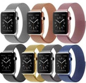China 38mm Magnetic Stainless Steel Milan Nice Apple Watch Belts Wrist Band Cheap 42mm Iwatch Belt Gold Silver Rose Red Color on sale