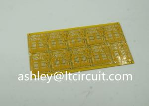 China Gloss Yellow Impedance Controlled PCB 4 Layer High TG 100ohm on sale